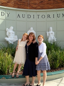 The girls and I at the Nutcracker