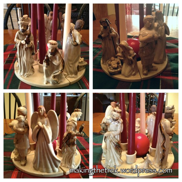 Love this Advent wreath of the Nativity!