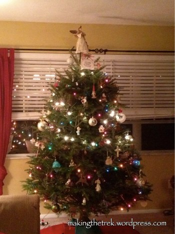 Our real Maine tree..in spite of the needles, I still love it!