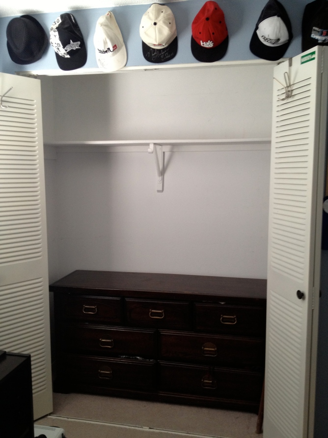 Empty closet BEFORE
