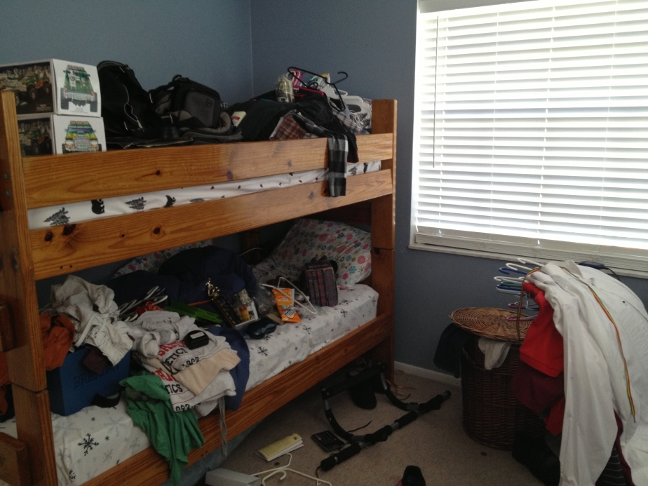 well, we had to put the closet stuff somewhere...