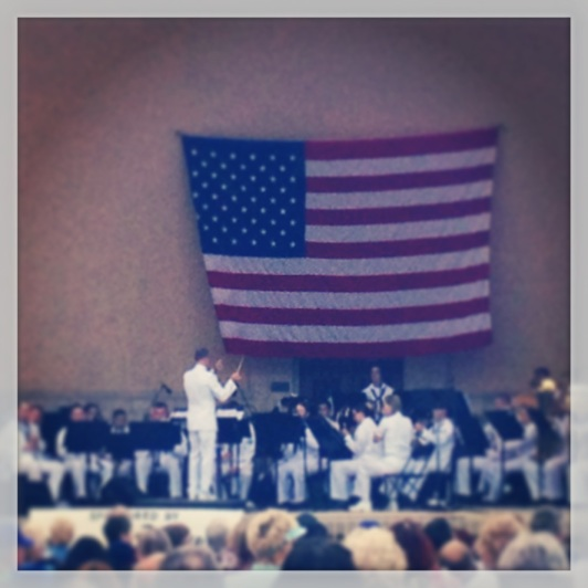 "US Navy band @ Memorial Day Tribute concert.  ""Taps"" brought me to tears."