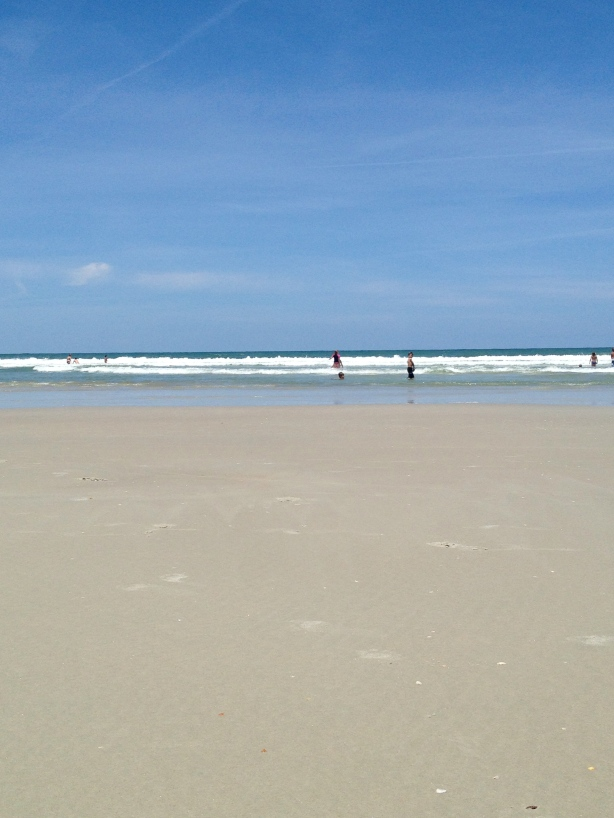 NSB.  Low tide.  Not to rough.
