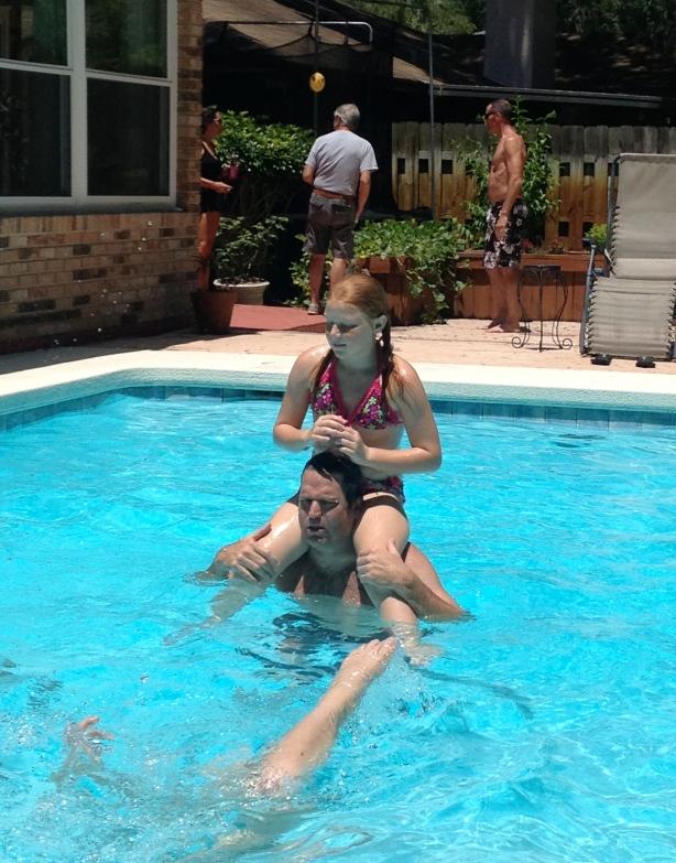 Pool fun and faux hawks