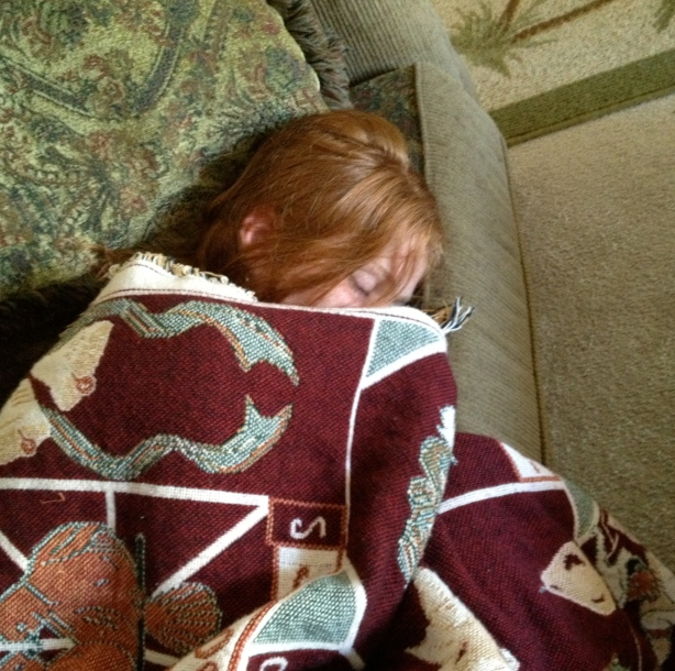 The sign of a GREAT wekeend....a nap from the kid who doesn't nap!