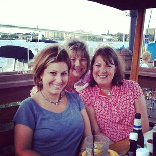 Dinner on the water with these two awesome beauties?  Yes, please!