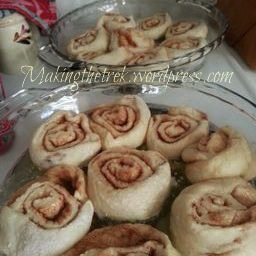 Traditiona Pioneer Woman cinnamon rolls for breakfast.  So flippin' delish!