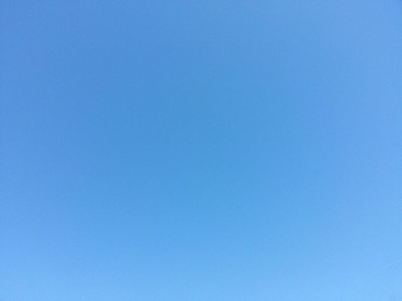 The bluest of blues.  Sky today.