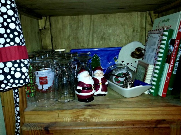 Christmas glasses and cookbooks